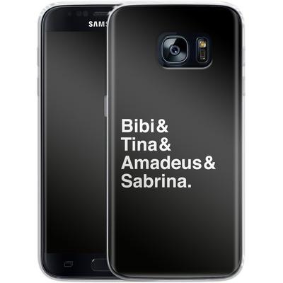 Samsung Galaxy S7 Silikon Handyhuelle - Bibi&Tina&Amadeus&Sabrina von Bibi & Tina