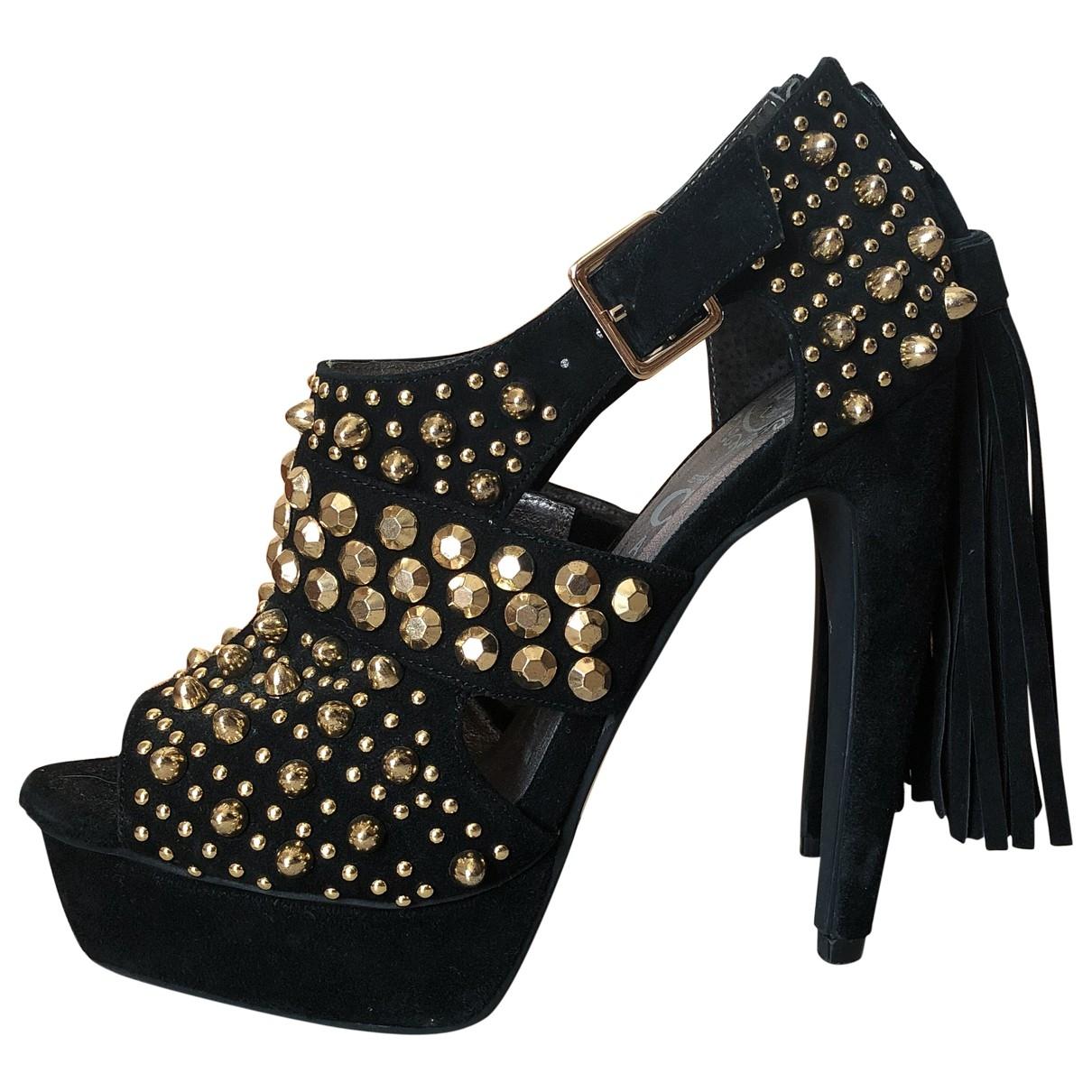 Jeffrey Campbell \N Black Leather Heels for Women 5 UK