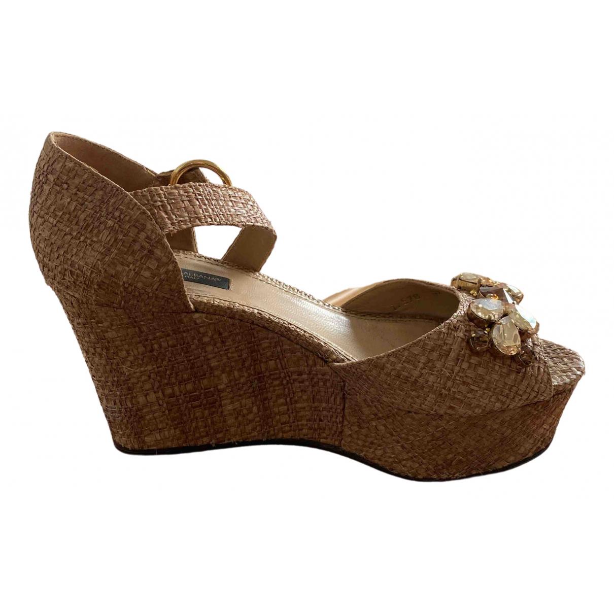 Dolce & Gabbana \N Beige Suede Heels for Women 37 EU