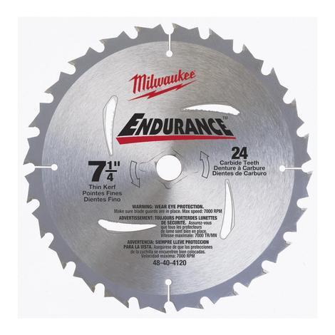 Milwaukee 7-1/4 in. 24 Carbide Teeth Circular Saw Blade