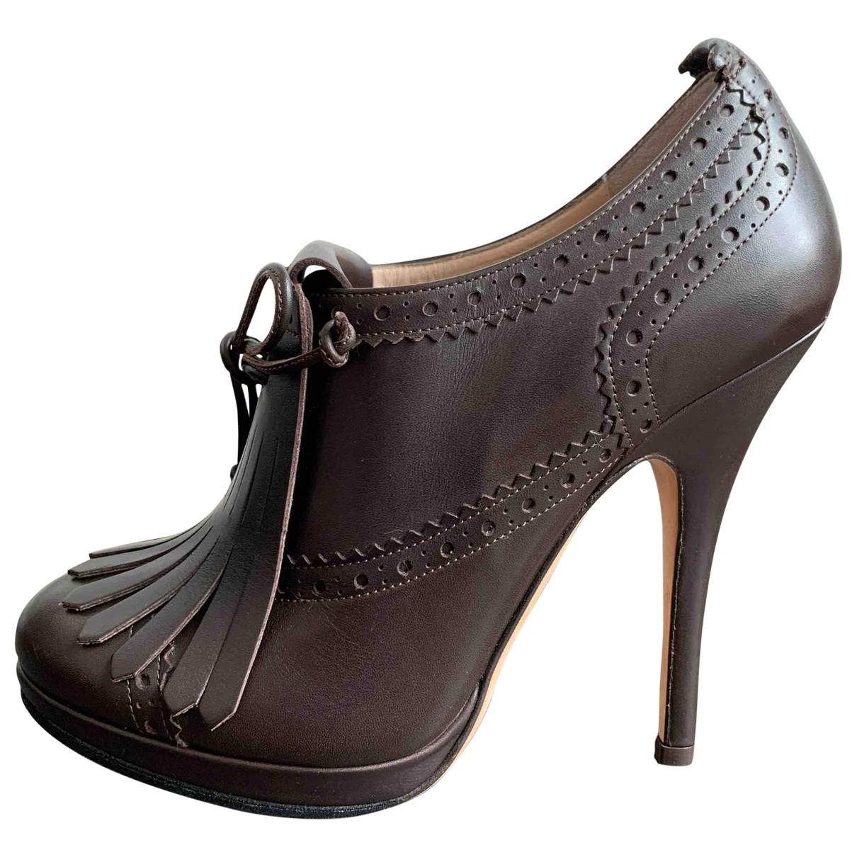 Bally - Escarpins   pour femme en cuir - marron