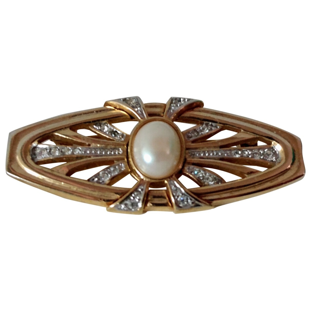 Non Signé / Unsigned Art Déco Gold Metal Pins & brooches for Women \N