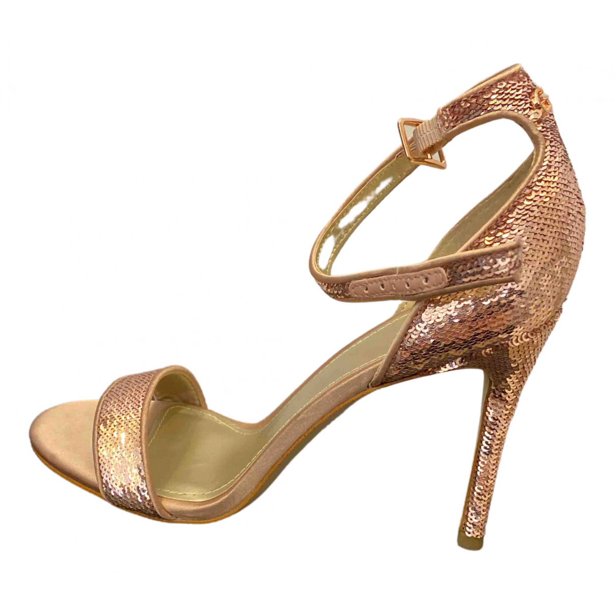 Guess \N Pink Glitter Sandals for Women 37 EU