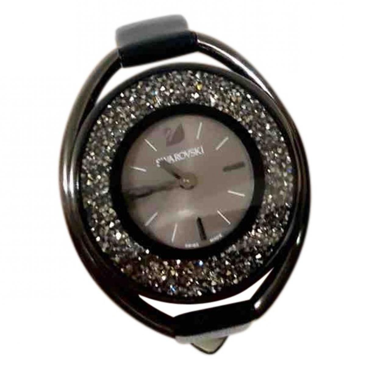 Swarovski \N Black Steel watch for Women \N