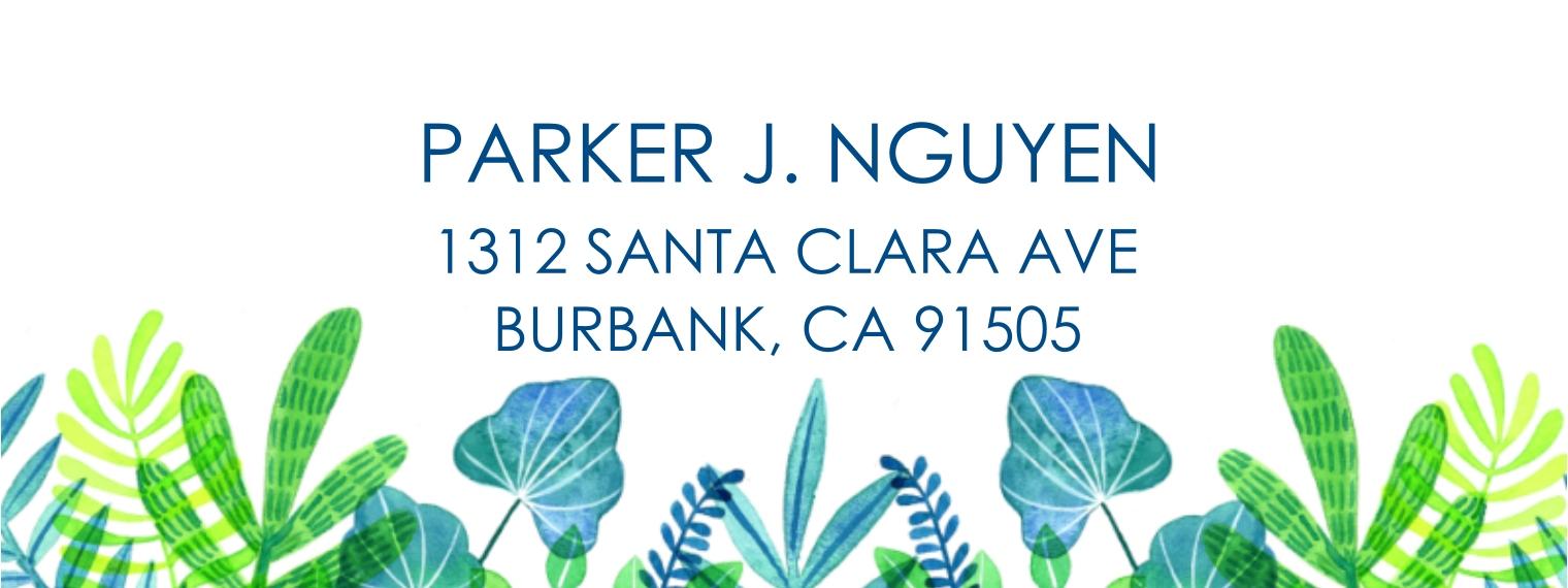 Everyday Return Address Labels, Card & Stationery -Botanical
