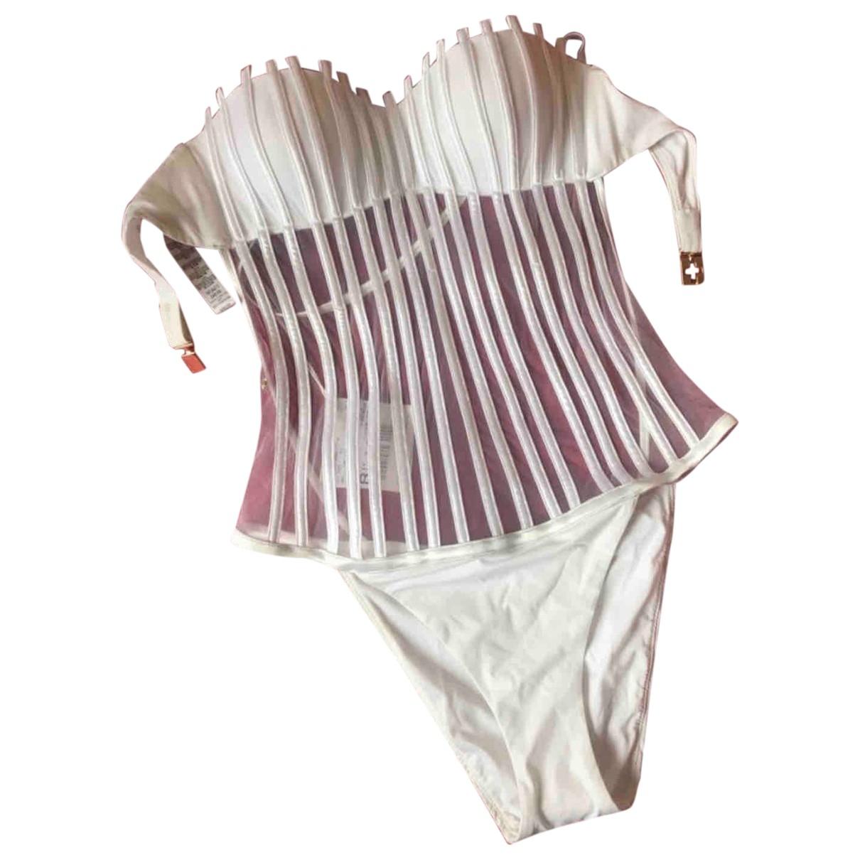 La Perla \N Badeanzug in  Weiss Polyester