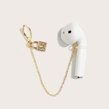 1 pieza pendiente antiperdida de auricular de Bluetooth con diamante de imitacion