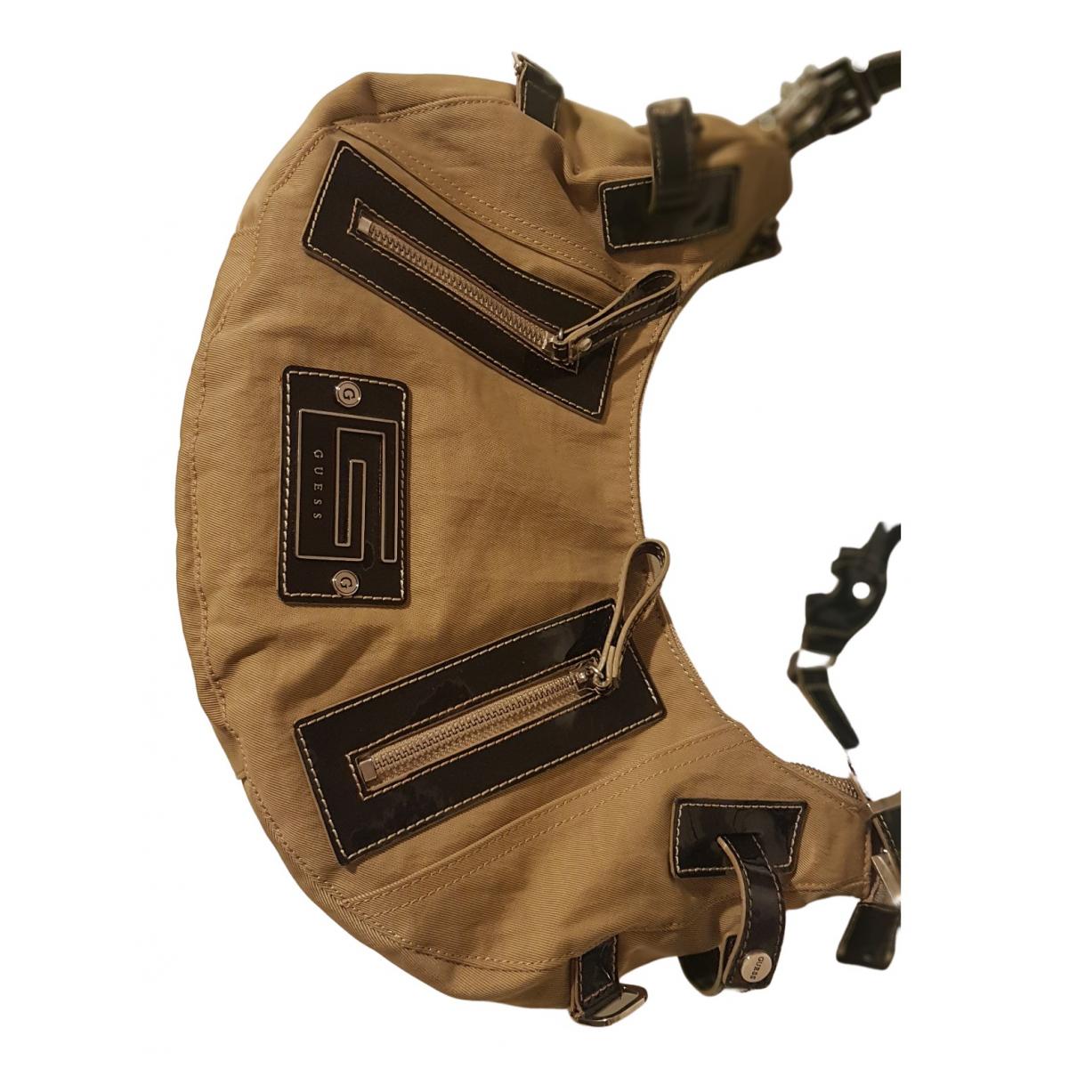 Guess \N Handtasche in  Khaki Leinen