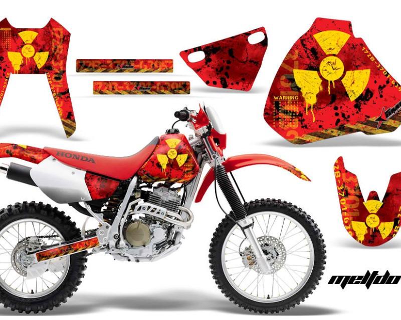AMR Racing Dirt Bike Graphics Kit Decal Sticker Wrap For Honda XR400R 1996-2004áMELTDOWN YELLOW RED