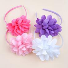 4 piezas aro de pelo de niñitas con flor