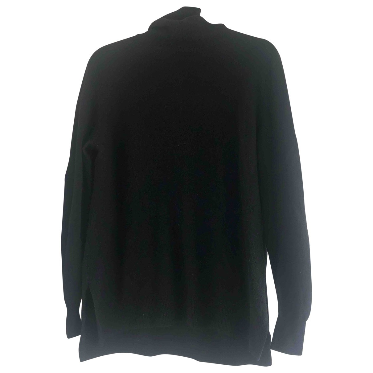 Massimo Dutti \N Pullover in  Schwarz Wolle