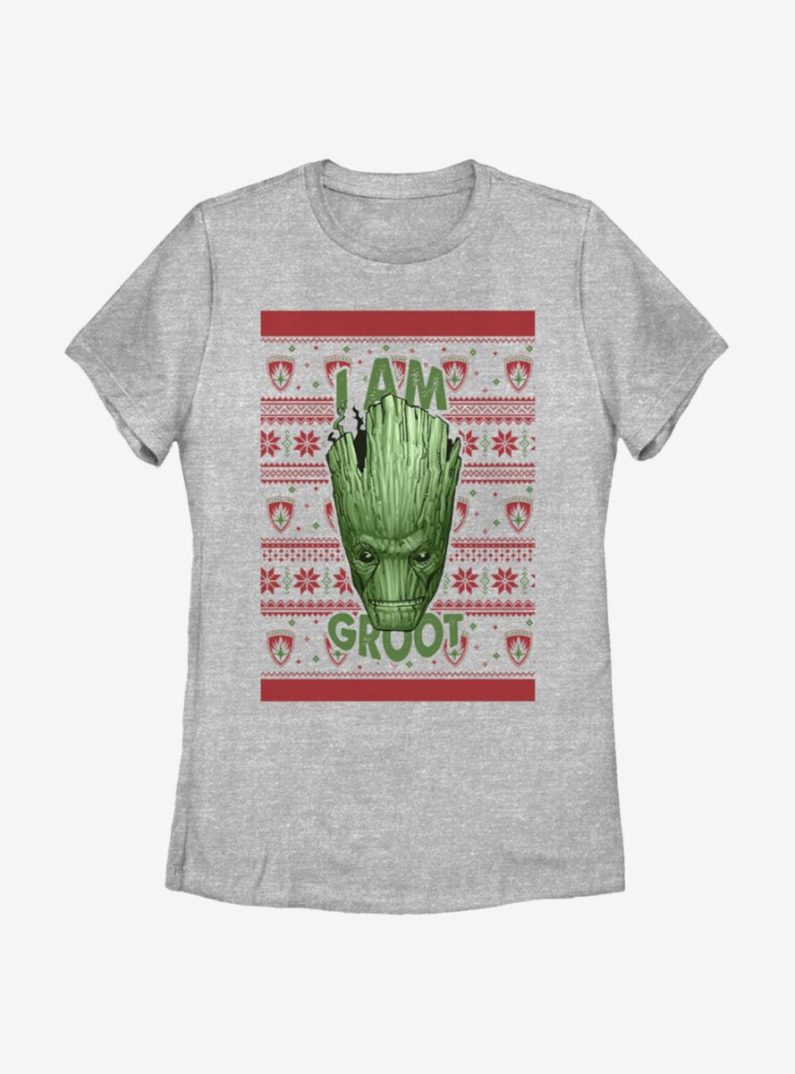 Marvel Guardians Of The Galaxy Groot Christmas Pattern Womens T-Shirt
