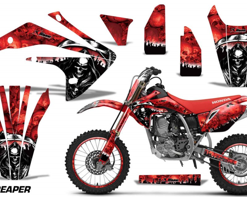 AMR Racing Graphics MX-NP-HON-CRF150R-17-18-RP R Kit Decal Sticker Wrap + # Plates For Honda CRF150R 2017-2018 REAPER RED