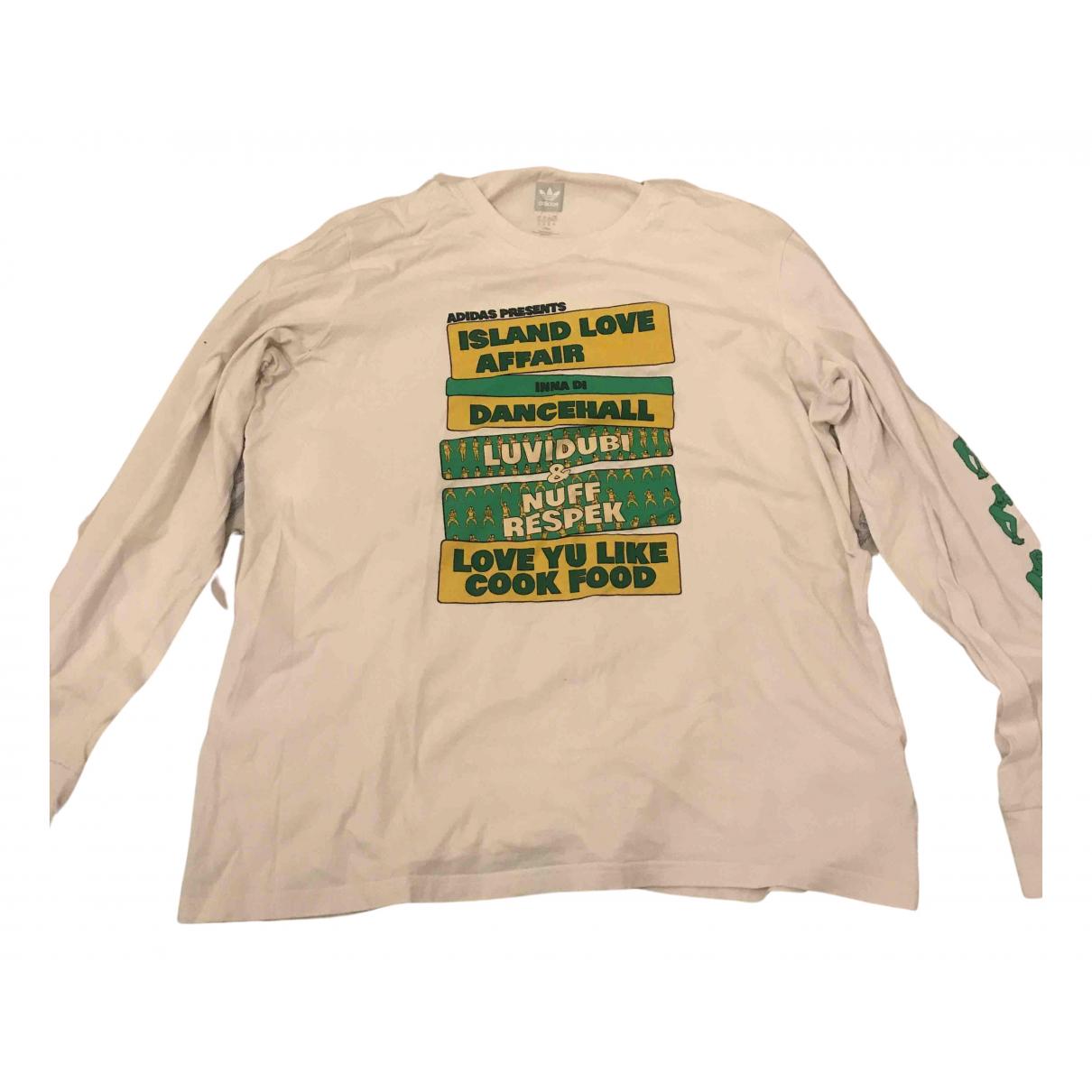 Adidas - Tee shirts   pour homme en coton - blanc