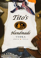 Tito's Handmade Vodka Tank without Silk Scarf - White
