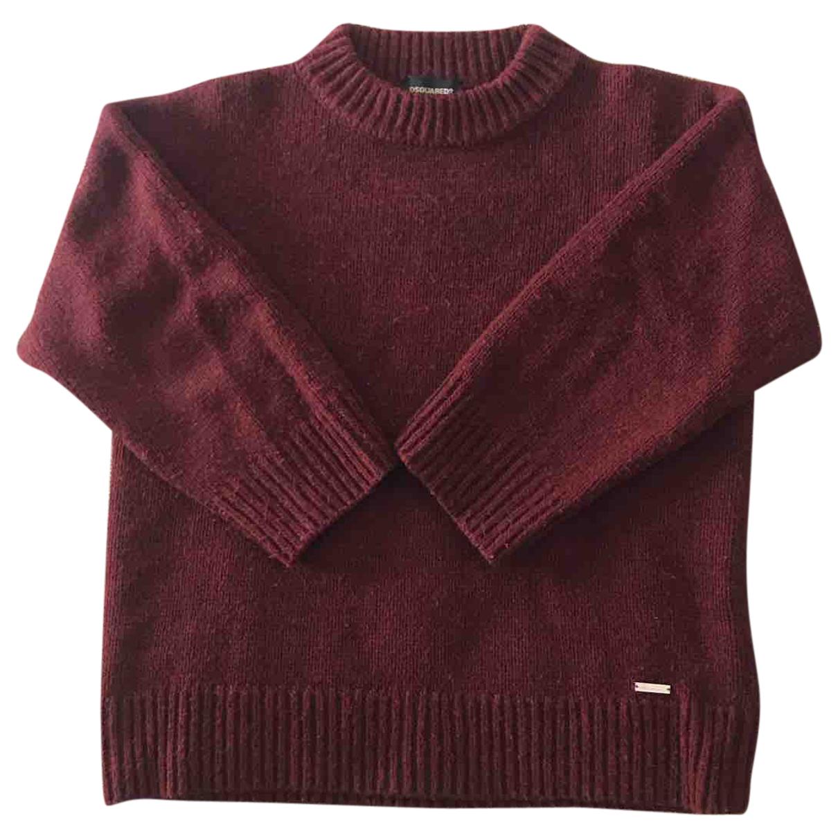 Dsquared2 - Pull   pour femme en laine - bordeaux
