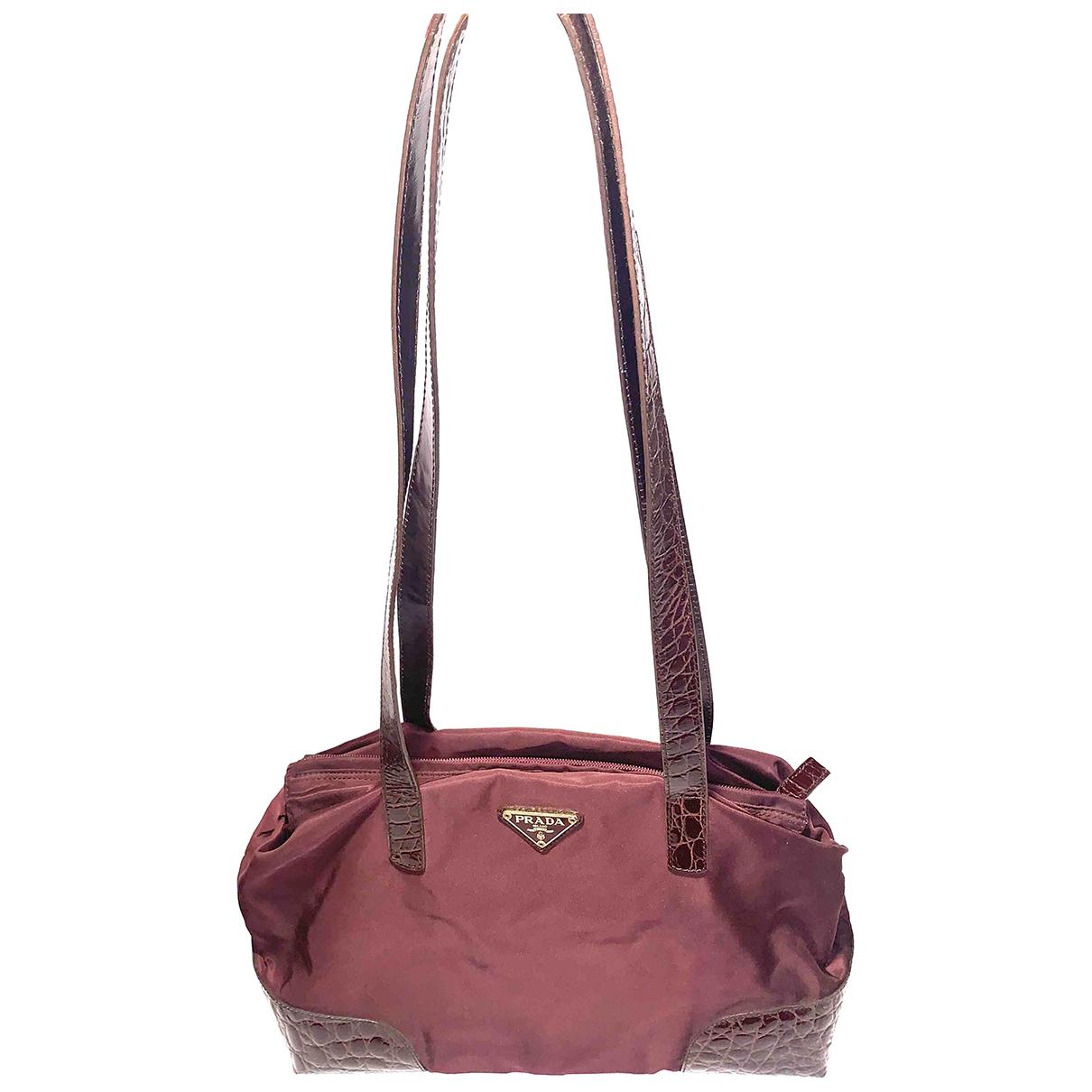 Prada Re-Nylon Burgundy Cloth handbag for Women N