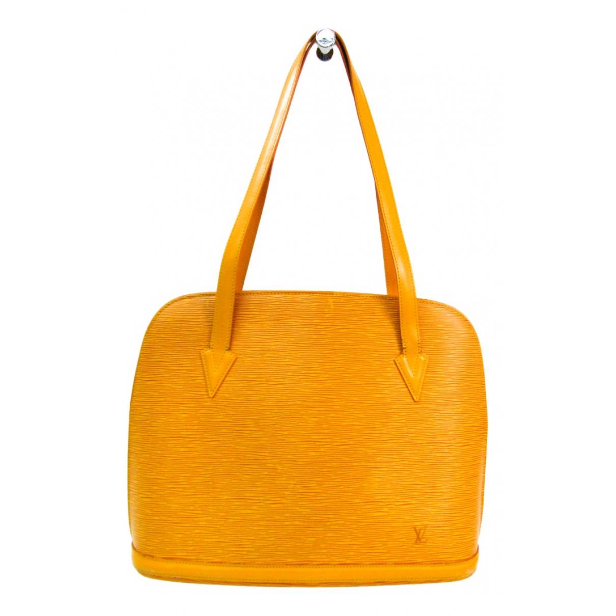 Louis Vuitton Lussac Yellow Leather handbag for Women \N