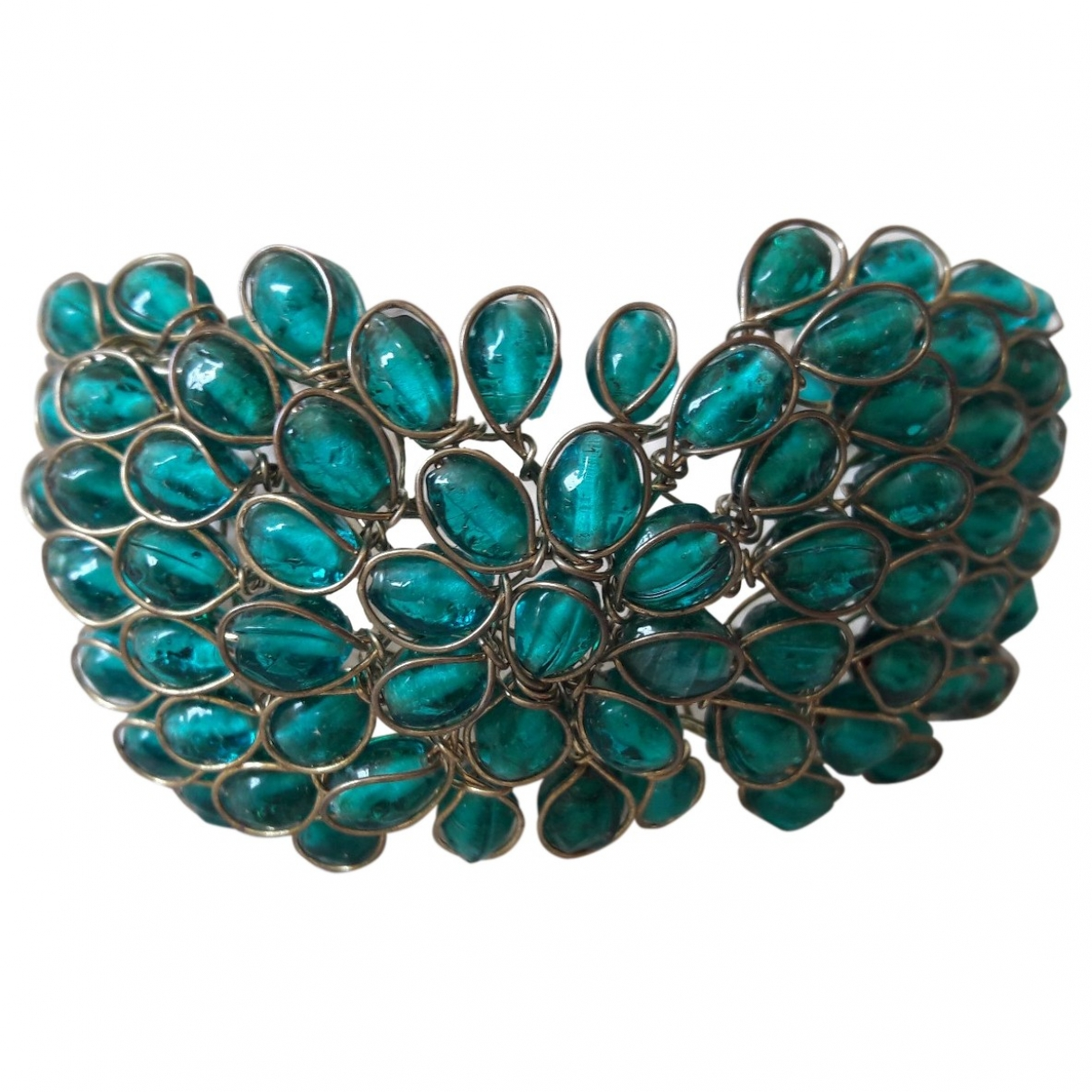 Non Signé / Unsigned Turquoises Turquoise Glass bracelet for Women \N