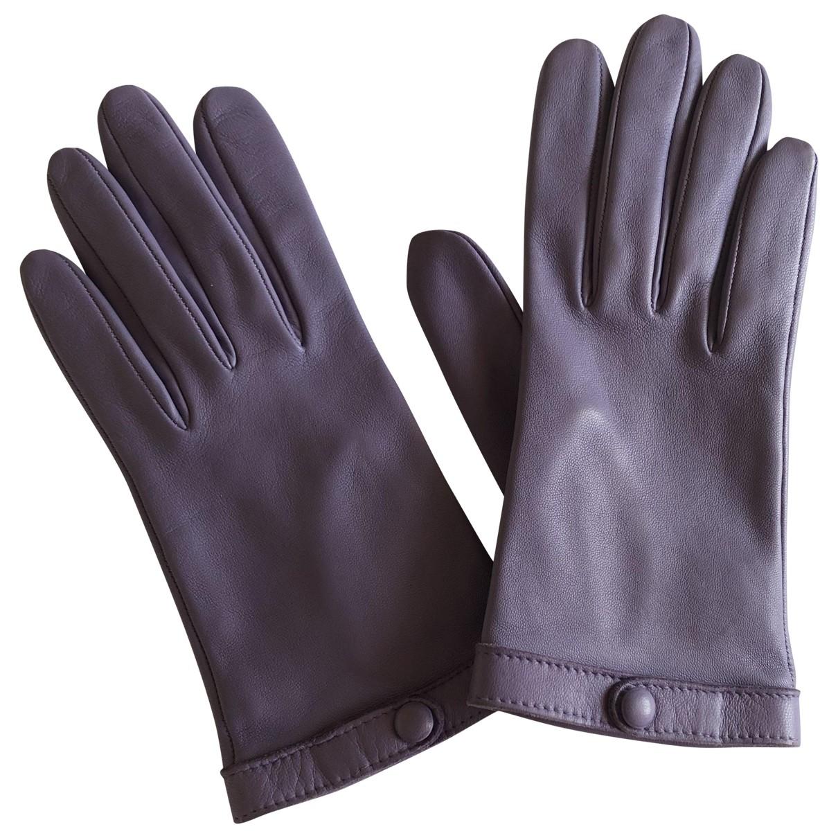 Sermoneta Gloves - Gants   pour femme en cuir - violet