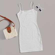 Strick Kleid mit Streifen