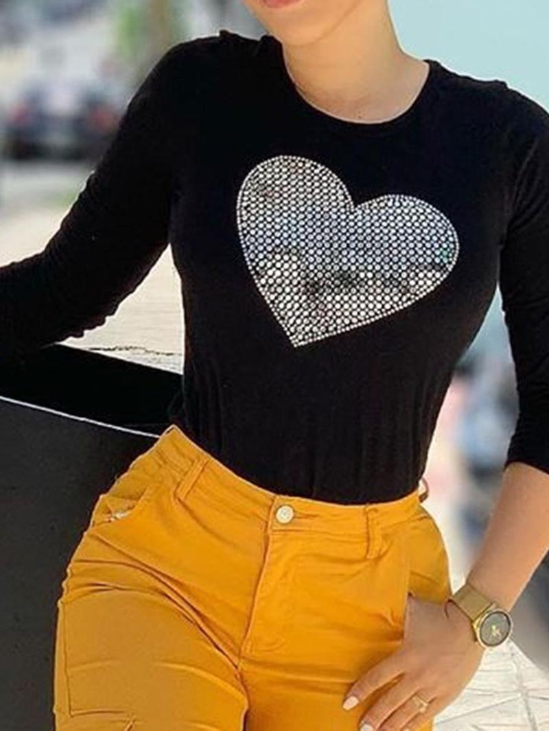 Ericdress Standard Heart Shaped Long Sleeve Western Spring T-Shirt