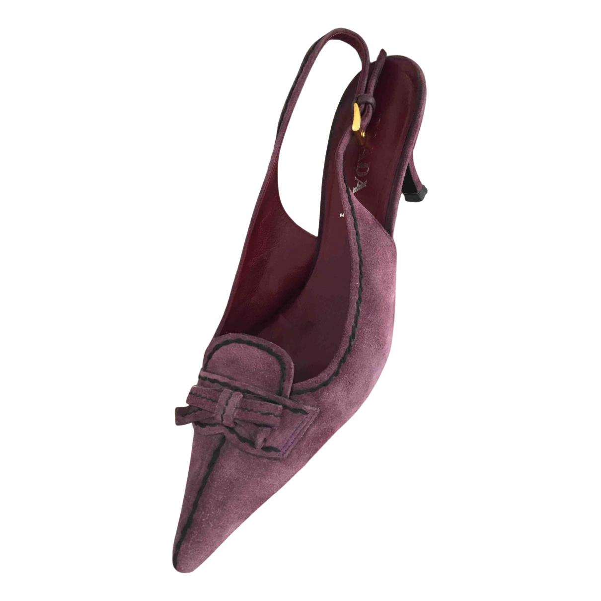 Prada - Escarpins   pour femme en suede - violet