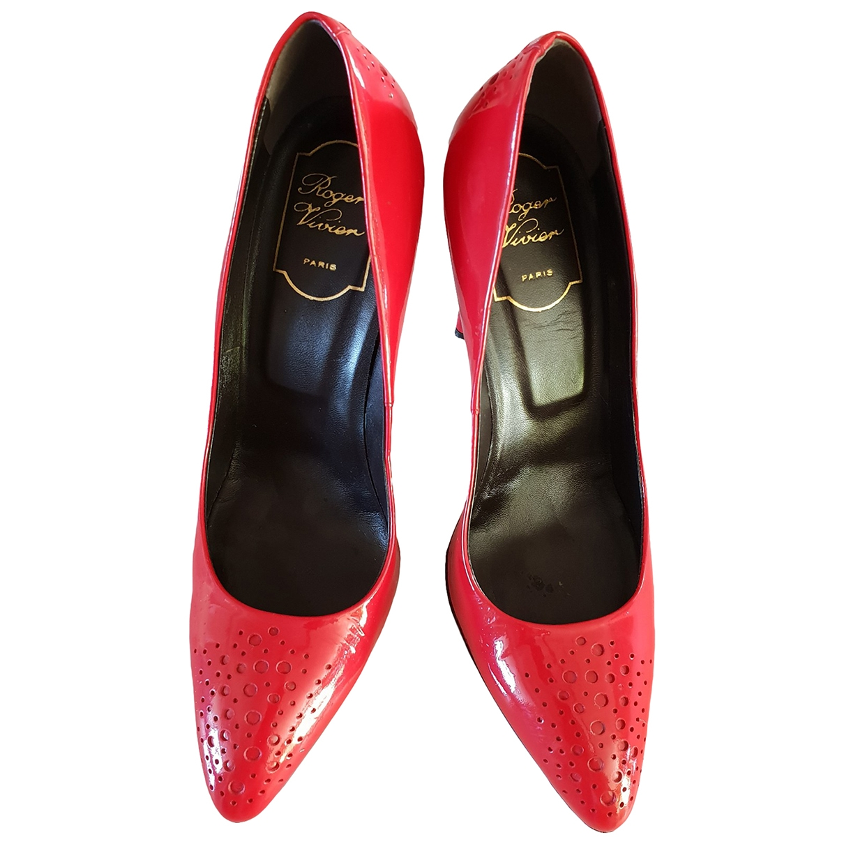 Roger Vivier \N Red Patent leather Heels for Women 38 EU