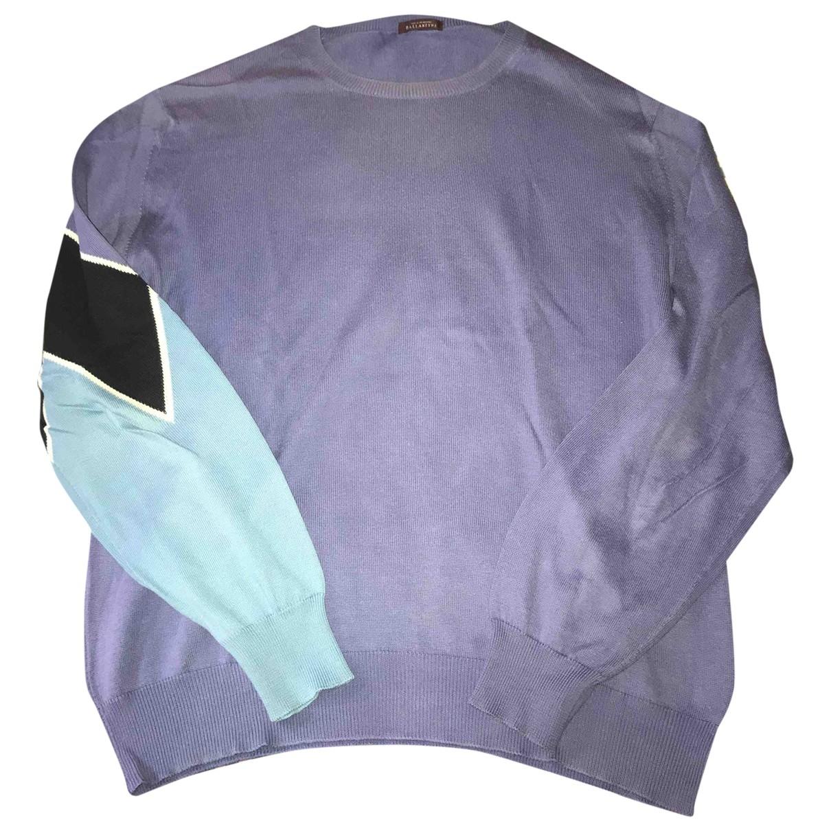 Ballantyne \N Pullover.Westen.Sweatshirts  in  Blau Baumwolle