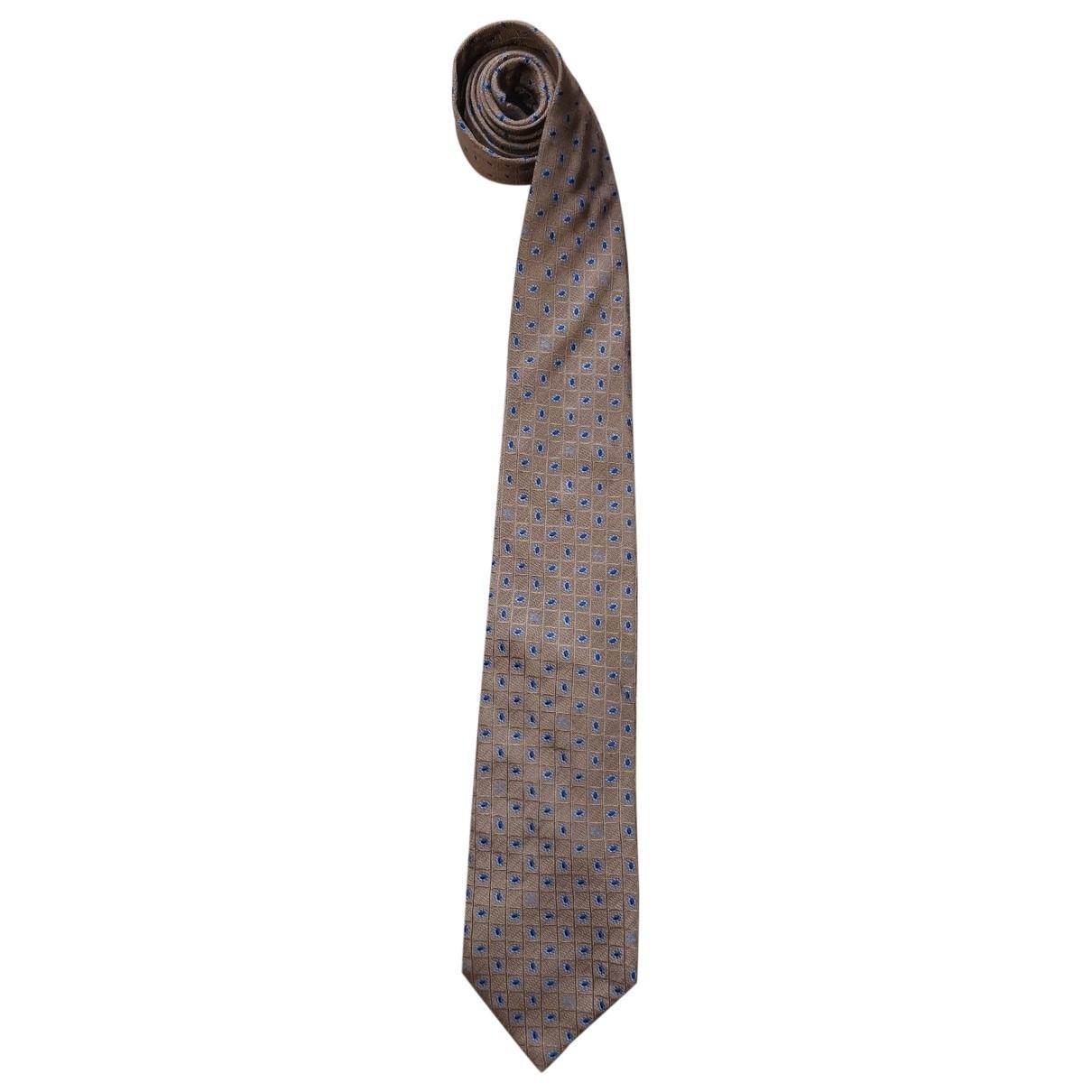 Burberry \N Krawatten in  Braun Seide