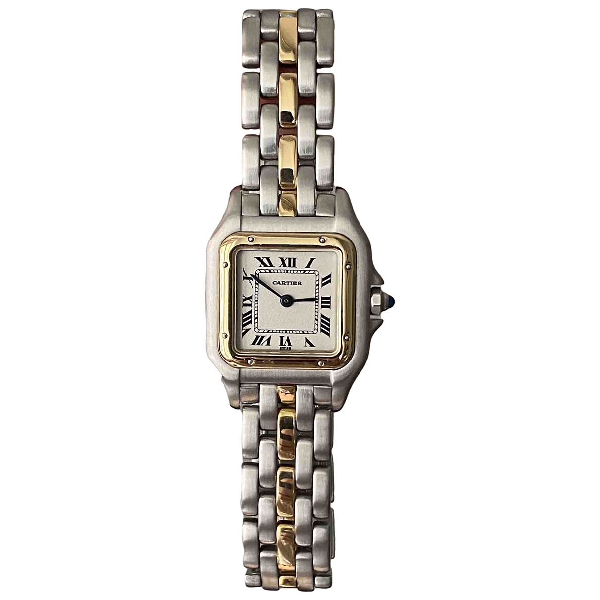Cartier - Montre Panthere pour femme en or et acier - dore