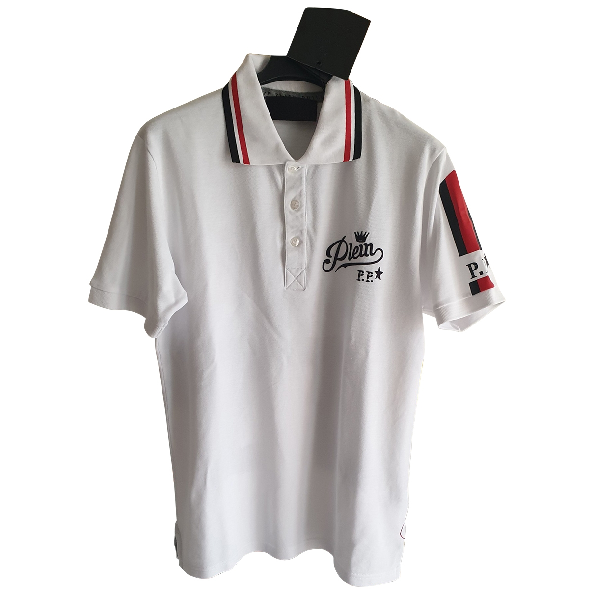 Philipp Plein \N White Cotton Polo shirts for Men XL International