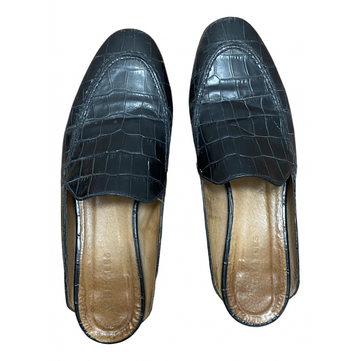 Whistles N Black Leather Flats for Women 39 EU