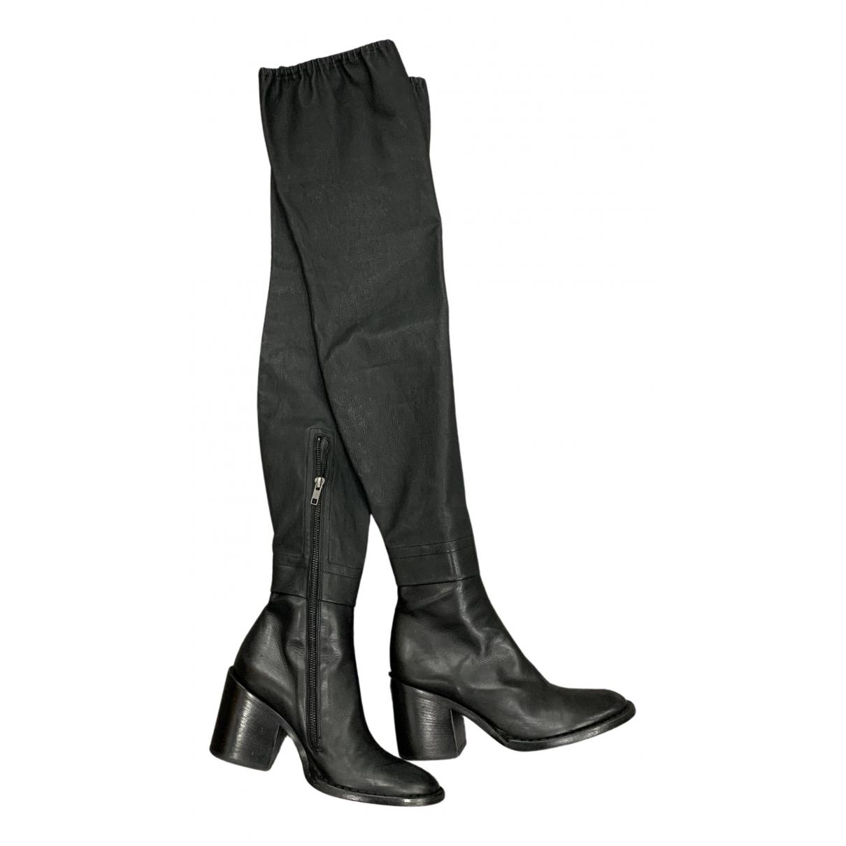 Ann Demeulemeester - Bottes   pour femme en cuir - noir