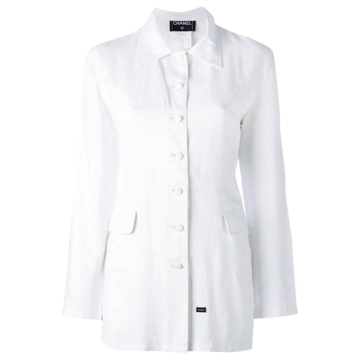 Chanel \N White Cotton jacket for Women 42 FR