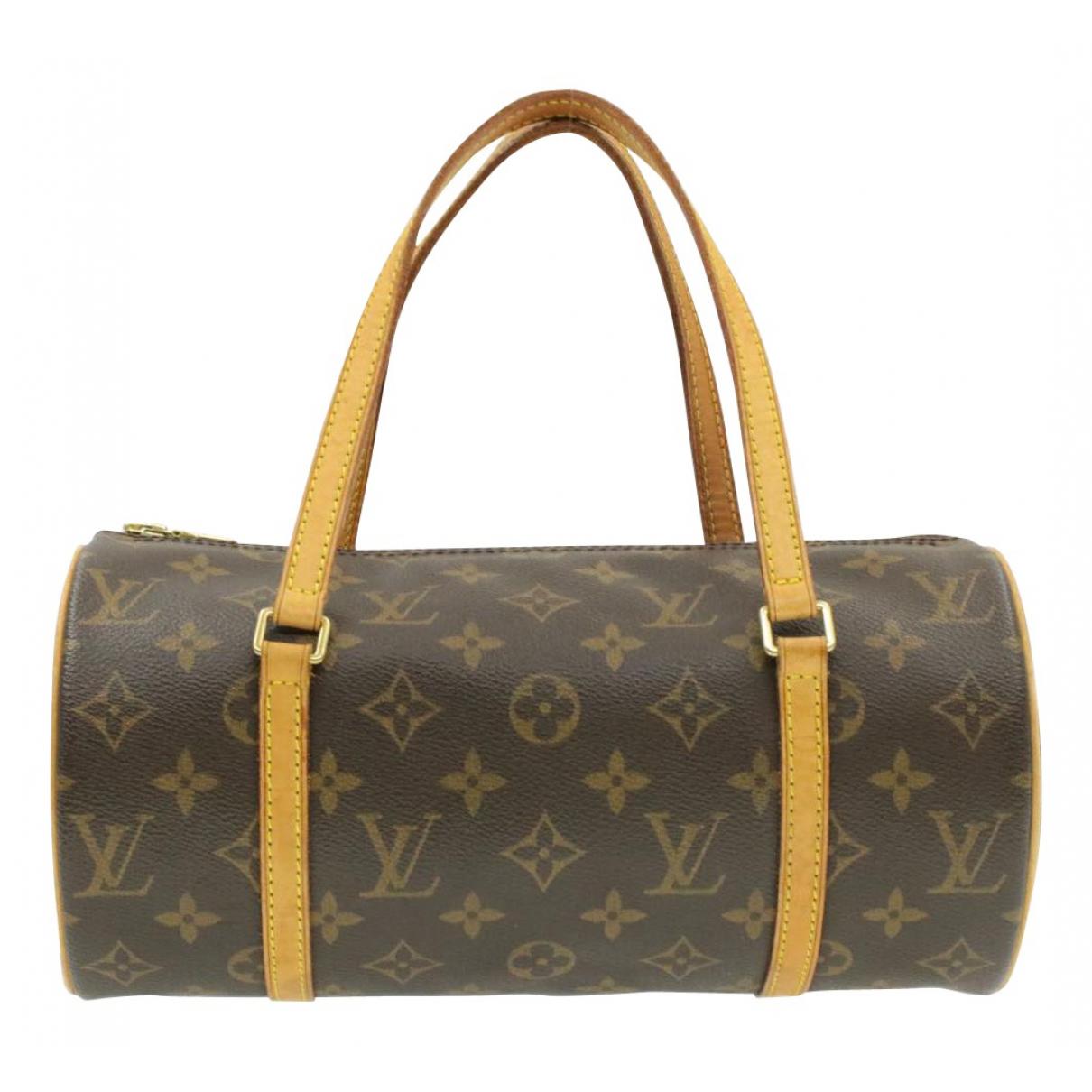 Louis Vuitton Papillon Handtasche in  Braun Leinen