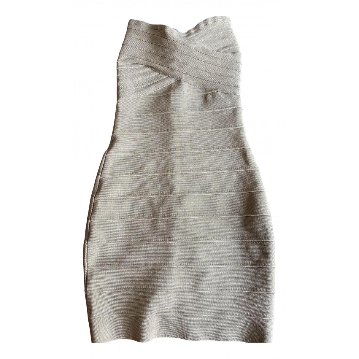 Herve Leger - Robe   pour femme - beige