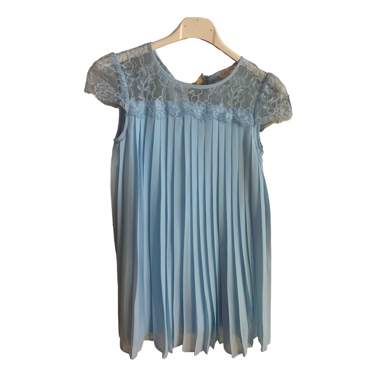 Blumarine - Robe    pour enfant en soie - turquoise