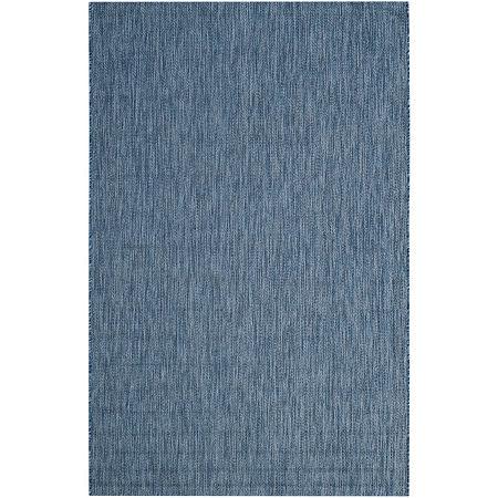 Safavieh Courtyard Collection Monroe Stripe Indoor/Outdoor Area Rug, One Size , Blue
