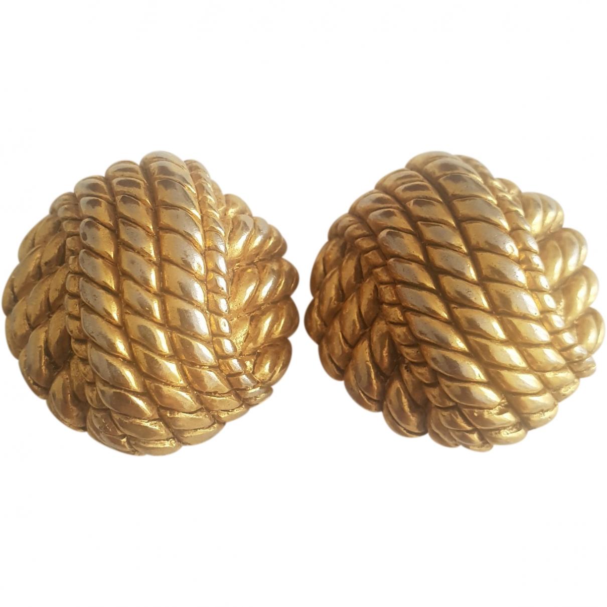 Balenciaga \N OhrRing in  Gold Metall