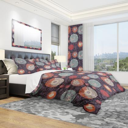 BED18631-T Designart 'Pattern With Graphic Doodle Suns' Modern & Contemporary Duvet Cover