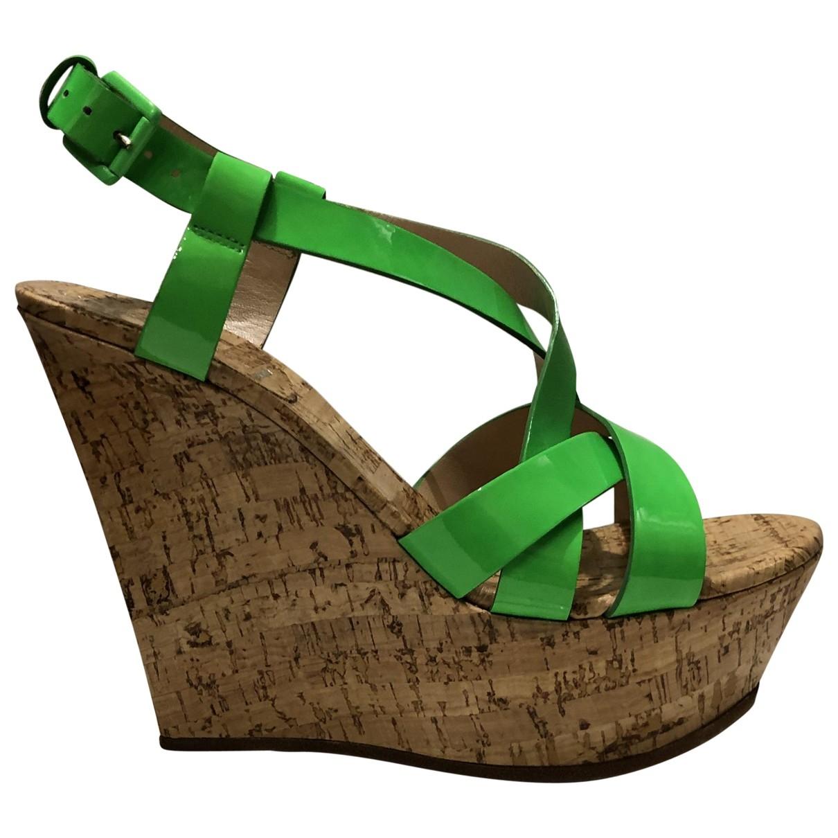 Casadei - Sandales   pour femme en cuir - vert
