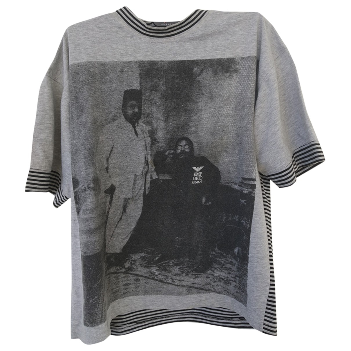 Emporio Armani - Tee shirts   pour homme en coton - gris