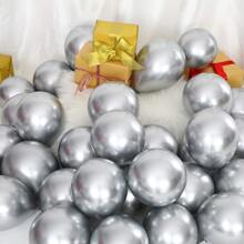 100 Stuecke Metallischer Latexballon