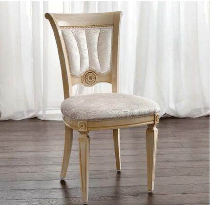 AIDASIDECHAIRIVORY 20 Side Chair with Tapered Legs  Channeled Tufting and Fabric Upholstery in