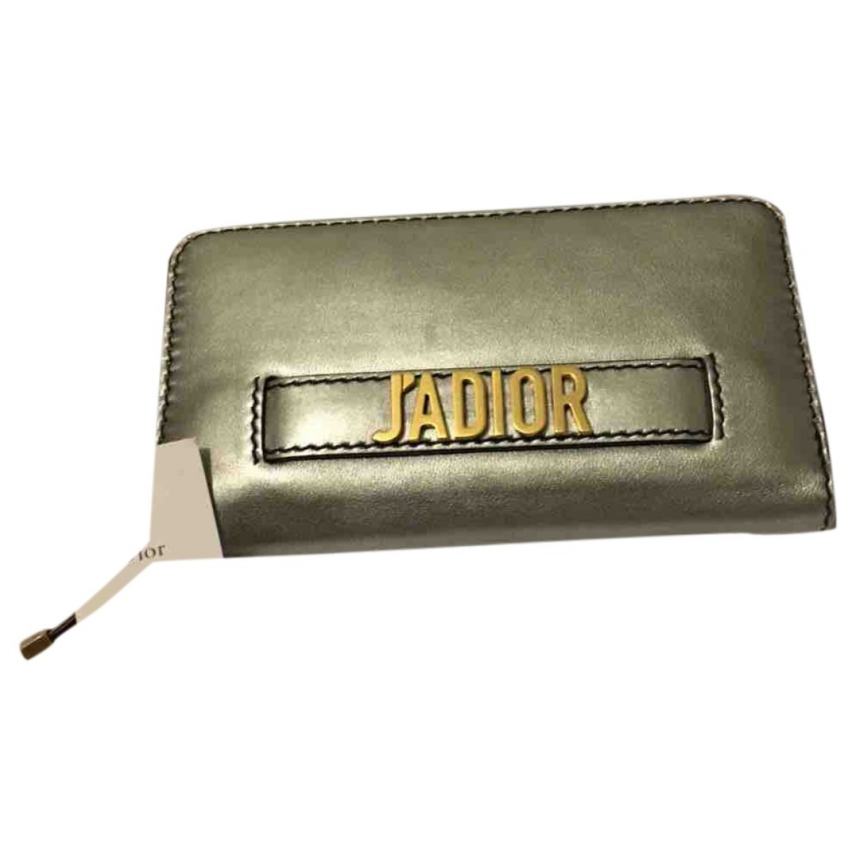 Dior \N Silver Leather wallet for Women \N
