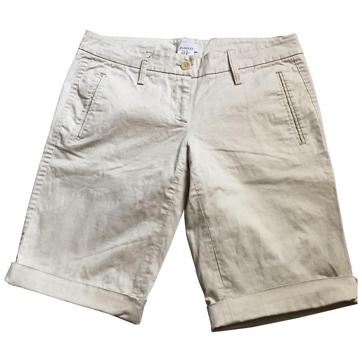 Pinko \N Shorts in  Beige Baumwolle - Elasthan
