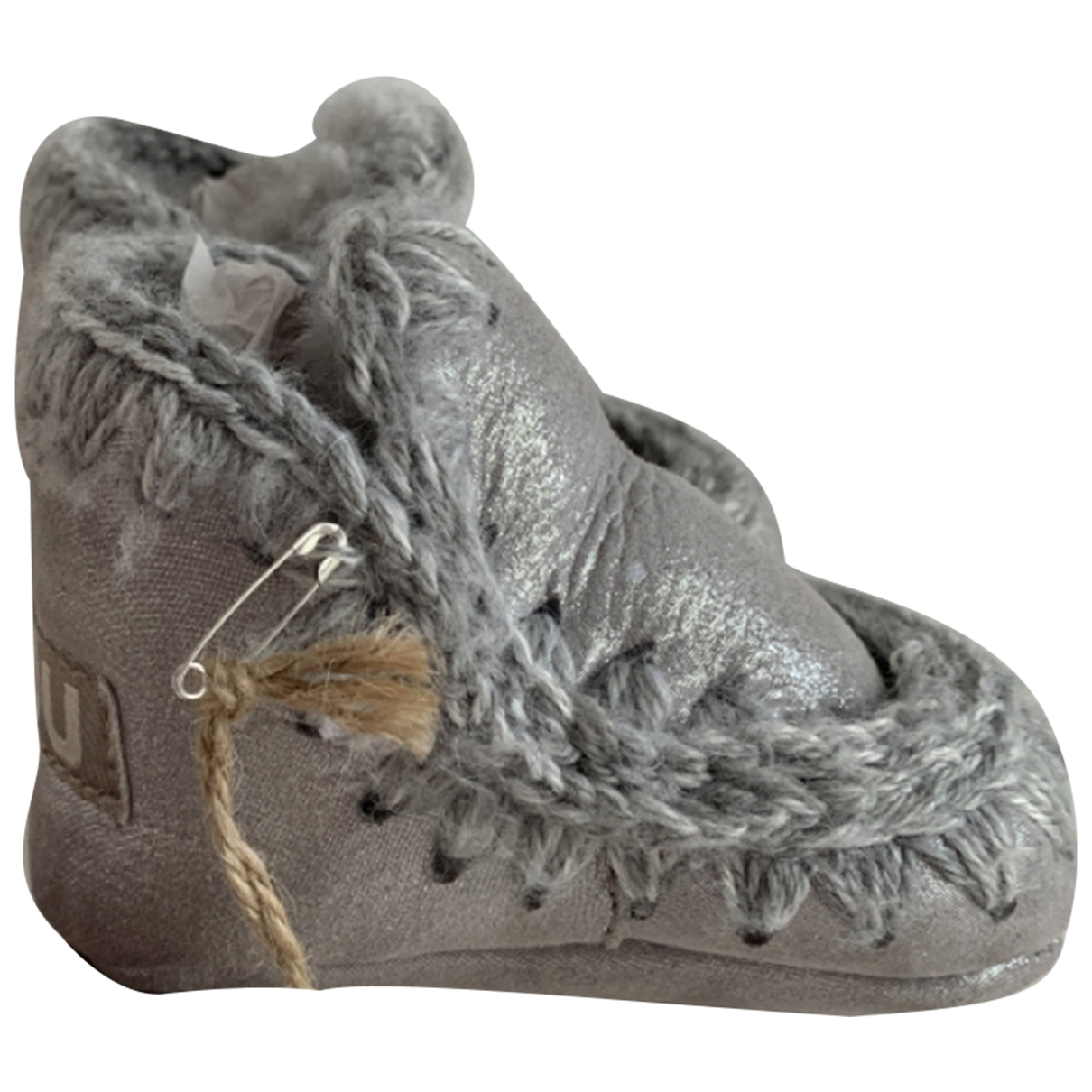 Mou \N Silver Suede First shoes for Kids 17 EU