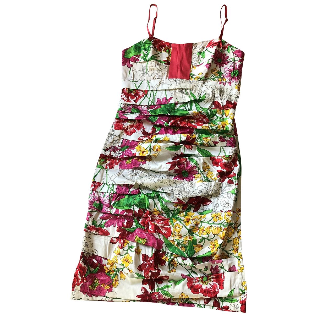 - Robe   pour femme en coton - elasthane - rouge