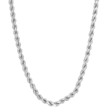 Sterling Silver 20 Inch Solid Rope Chain Necklace, One Size , No Color Family